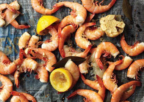 Bon Appetit's Shrimp Boil: Beef Recipes, Shrimp Boiled Recipes, Ice Cubes, Boiled Seasons, Homemade Shrimp, Recipes Slideshow, Easy Recipes, Shrimp Dishes, Shrimp Recipes