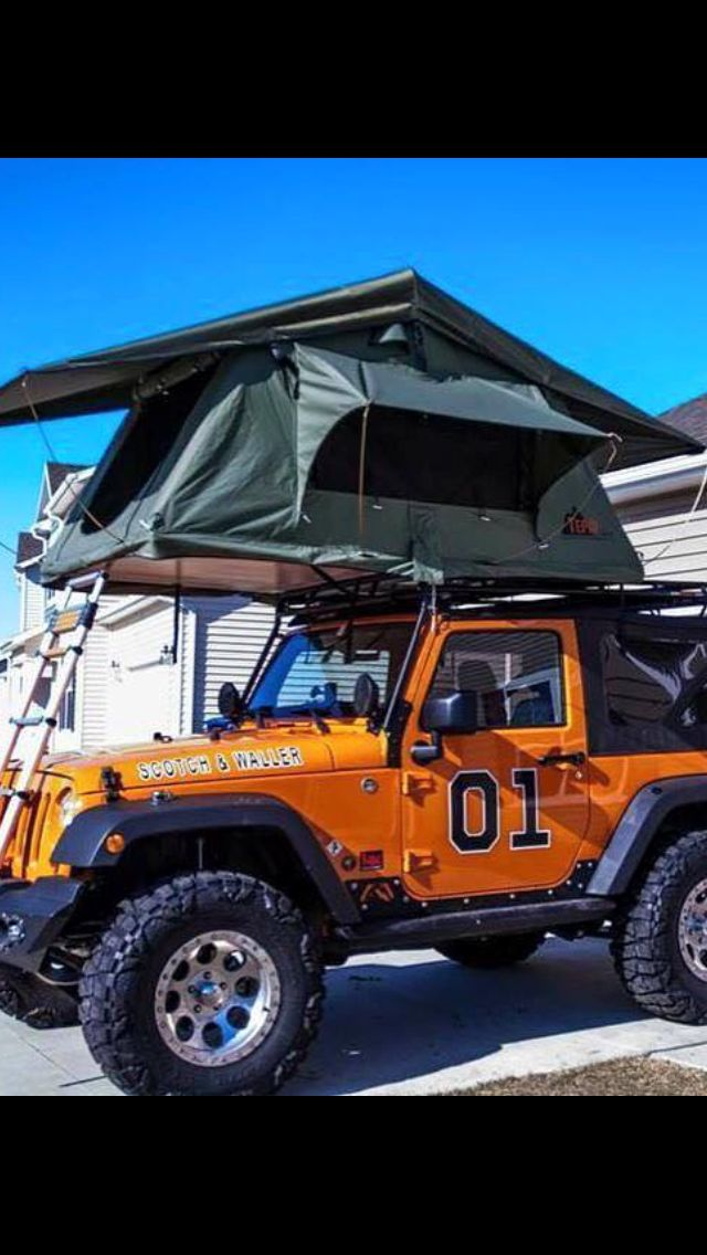 The General Lee Jeep! With a tent on top to boot!