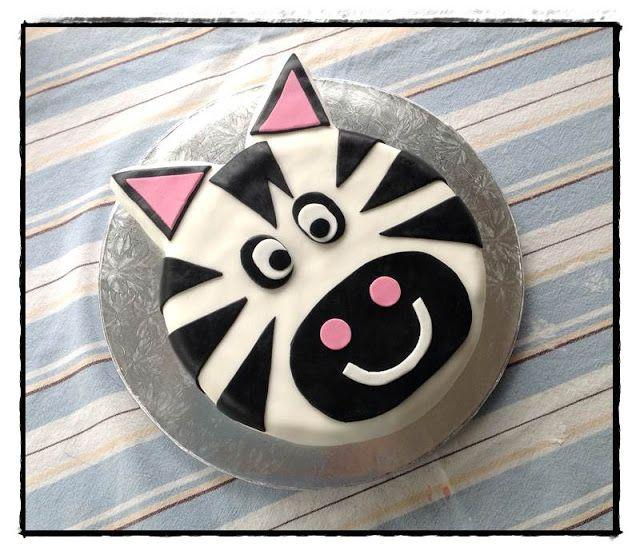 Sunshine x 3: zebra face cake