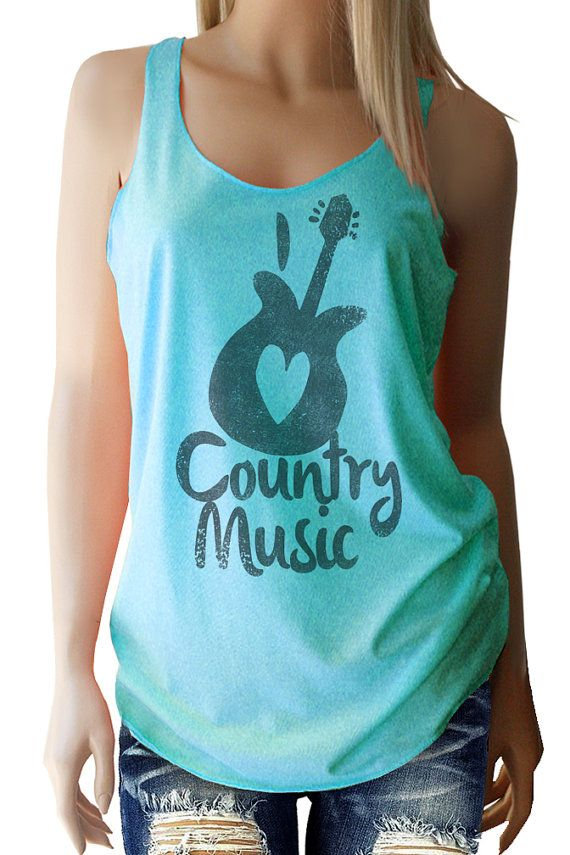 I Love Country Music Vintage Black super soft Tri-Blend Tank.  Great for any music festival, Coachella, Stagecoach or just hanging out...  I