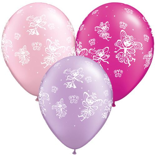 "Qualatex 11"" Licensed Genuine Balloons Fairies & Butterflies Assorted in Home, Furniture & DIY, Celebrations & Occasions, Party Supplies 