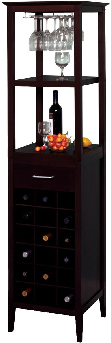 Espresso Wine Tower and Glass Holder - 18 Bottles $179.00