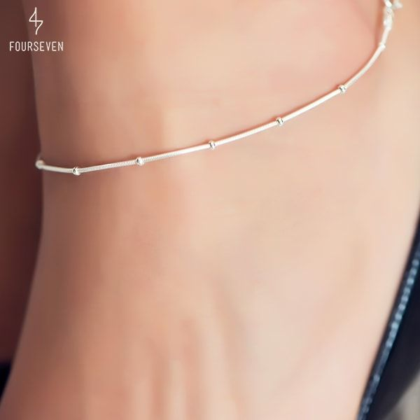Silver Anklets. Handcrafted with love in India.