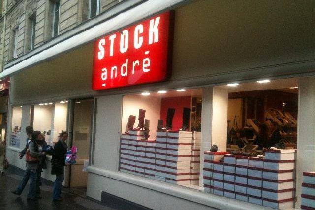 Désockage chaussures André Stock à Paris - http://bonplangratos.fr/andre-stock
