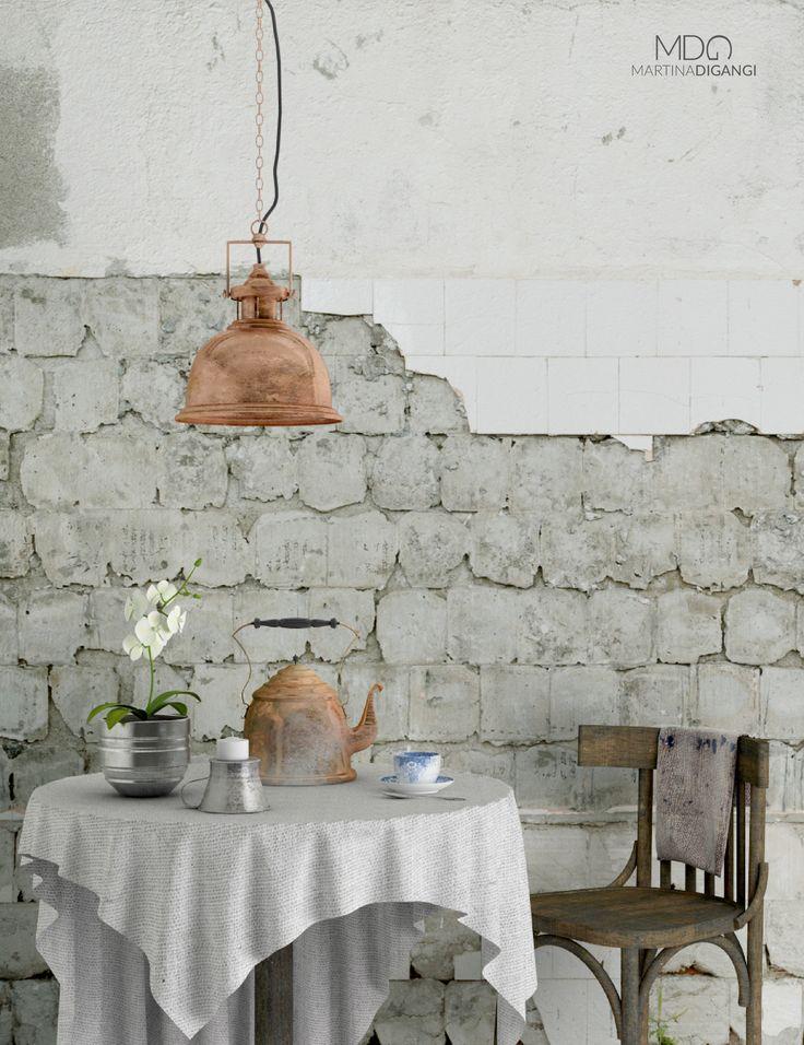 #interior #old #kitchen - Modellazione e rendering: MarvelousDesigner e Cinema 4D + Vray Post-produzione: Photoshop