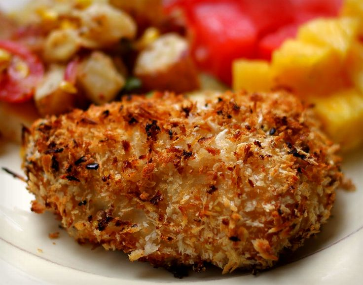 A little bit Mexicano...taco crusted chicken!