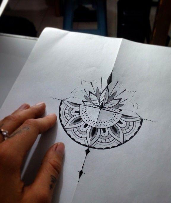 Best 25+ Half mandala tattoo ideas on Pinterest | Ankle ... - photo#6