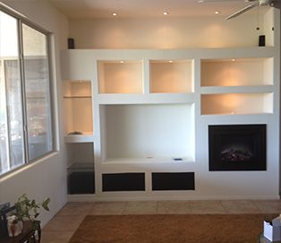 Custom Drywall Entertainment Centers & Media Walls in Phoenix - TWD