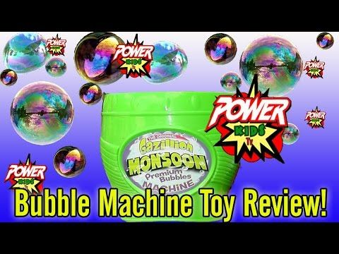 Bubble Machine Toy Review by Power Kids Tv - YouTube