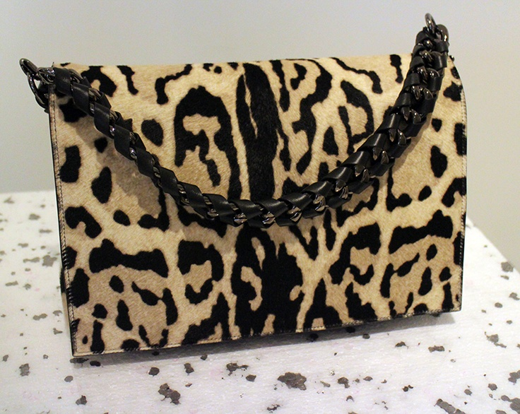 Love this leopard bag from Elena Ghisellini. Coming Fall 2013.
