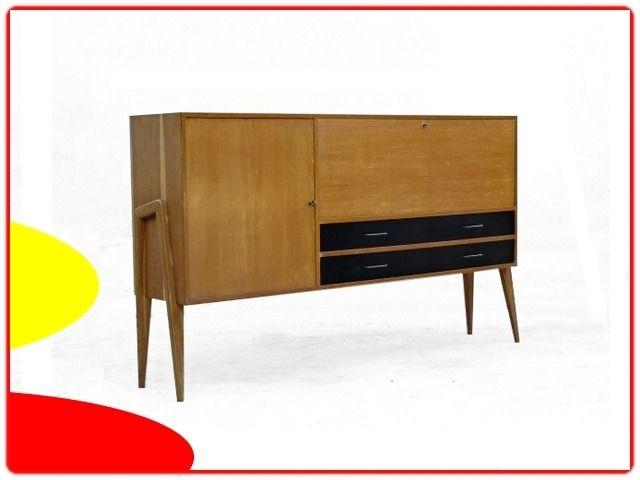 Enfilade Charles Ramos Bois Blond Vintage 1950 Meubles Deco Vintage Design Scandinave Mobilier De Salon Meuble Vintage Enfilade