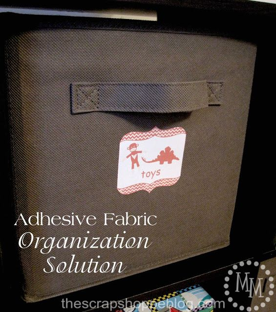 Adhesive Fabric Organization Solution & GIVEAWAY! {My Vinyl Direct} - The Scrap Shoppe