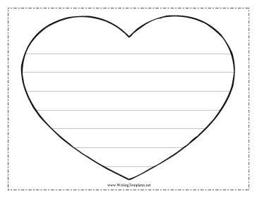 Heart Writing Template Writing Template, free to download and print