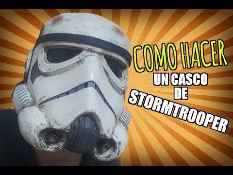 COMO HACER UN CASCO DE STORMTROOPER / How to make a stormtrooper helmet - YouTube
