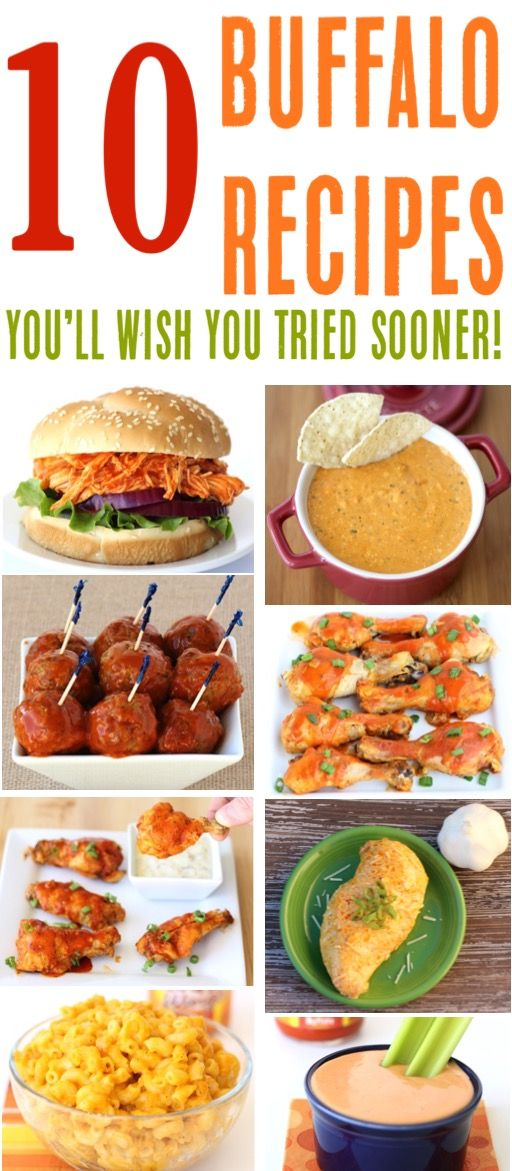 Buffalo Chicken Recipes!  Easy Buffalo Sauce Recipes Recipes including Crockpot Dinners, Delicious Pasta, Epic Dip and Party Wings!