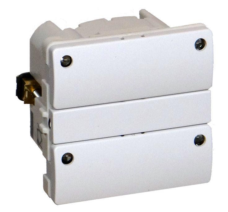 Z-Wave Plus -  Dansk Z-wave Fuga Betjeningstryk med relæ udgang, hvid med 4 lysdioder. ZHC5010-WH-4