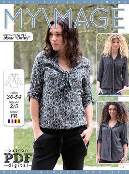 [S1012]+BLOUSE+CHRISTY+de+MADE+BY+ORANGES *+Par+les+créateurs+des+magazines+My+Image,+Young+Image+et+B-Inspired *+Tailles:+36-54 *+Difficulté:+2/5 *+Comprend+le+patron,+les+instructions+français,+le+plan+de+coupe+etc. Nos+magazines+de+couture+sont+disponibles+dans+notre+boutique+en+ligne:+www.madebyoranges.com