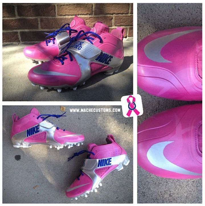 Breast Cancer Awareness Nike Cleats Custom Painted