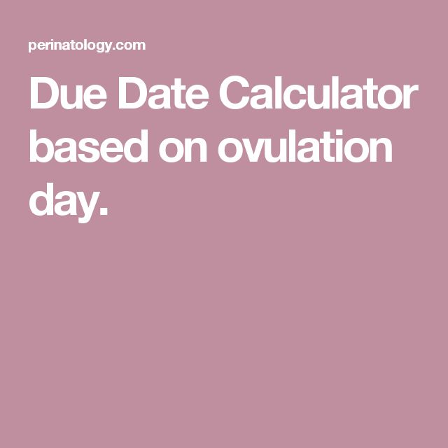 Due date calculator by conception