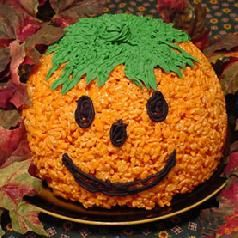 Rice Crispy Jack-O-Lantern Recipe