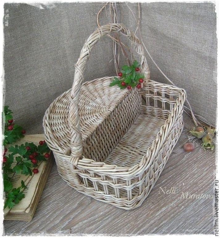 """Купить Корзина-короб """" Лето в Провансе"""" - бежевый, оригинальная корзинка, плетеный короб, для кухни"""