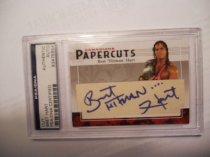 "BRET ""THE HITMAN""  HART  - SIGNED/AUTOGRAPHED CUT- PSA/DNA SLABBED 1/1"