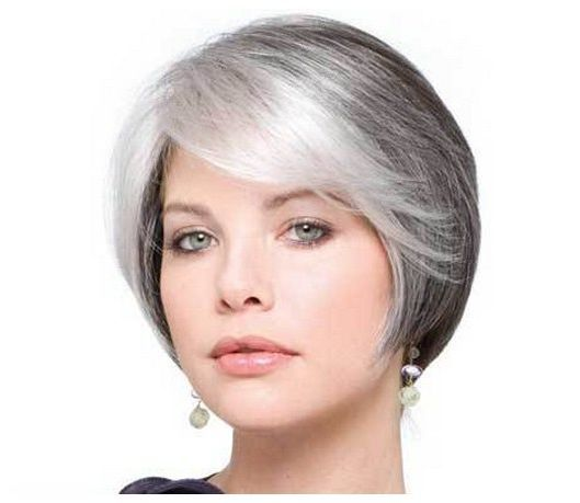 gray hair styles | ... Women with White Hair: Short Hairstyles For Older Women With Gray Hair