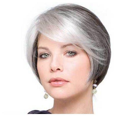 gray hair styles | ... Women with White Hair: Short ...
