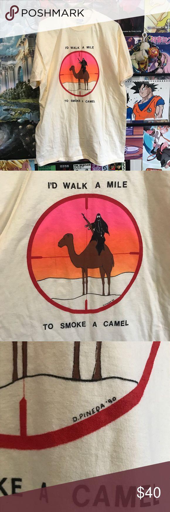 VTG Camel T-Shirt Vintage I'd walk a mile to smoke a camel tee! Size XL 10/10 Vintage Tops Tees - Short Sleeve