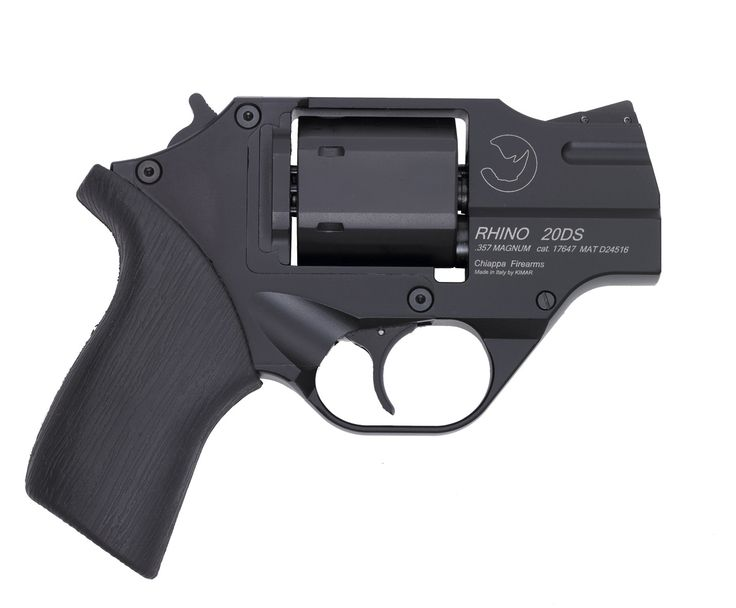 This is the Rhino.  It's different from most all other revolvers in that the barrel is located at the bottom of the cylinder.  This design apparently helps to mitigate recoil.  It also looks cool.