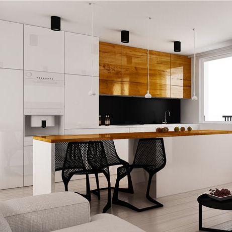 Kitchen design in flat POLAND - archi group. Kuchnia w mieszkaniu