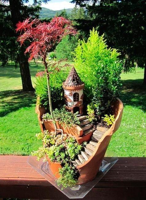 Fairy Garden Ideas For Small Spaces 198 best miniature gardens images on pinterest | fairies garden