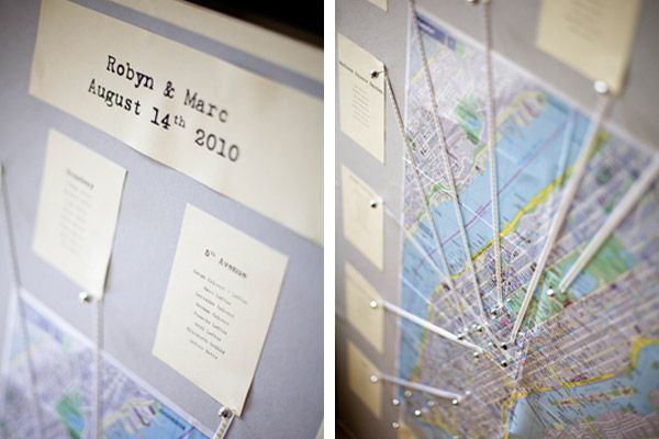 Seating chart - Using a Map / NY streets -- new york wedding theme | new york theme wedding