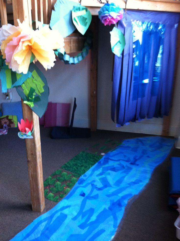 Classroom Waterfall Ideas ~ Waterfall along the amazon river classroom decorations
