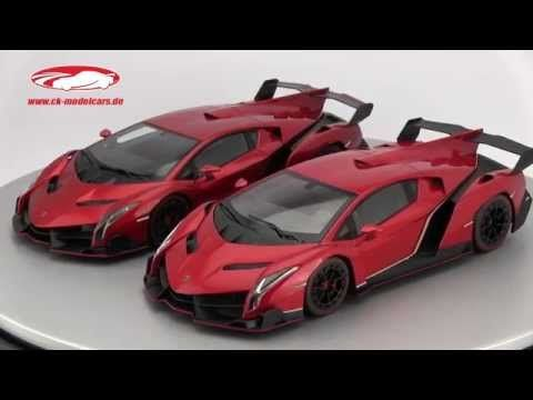 CK-Modelcars - 09501RM: Lamborghini Veneno year 2014 red metallic 1:18 Kyosho, EAN 4548565264025