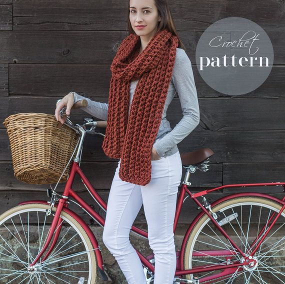- Classic Ribbed Scarf You will want to make this cozy ribbed scarf ...