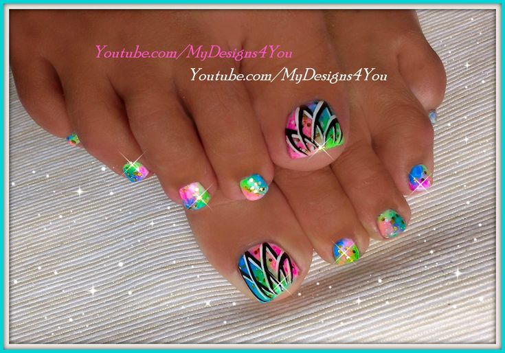 Summer Toenail Art | Easy Neon Toenails