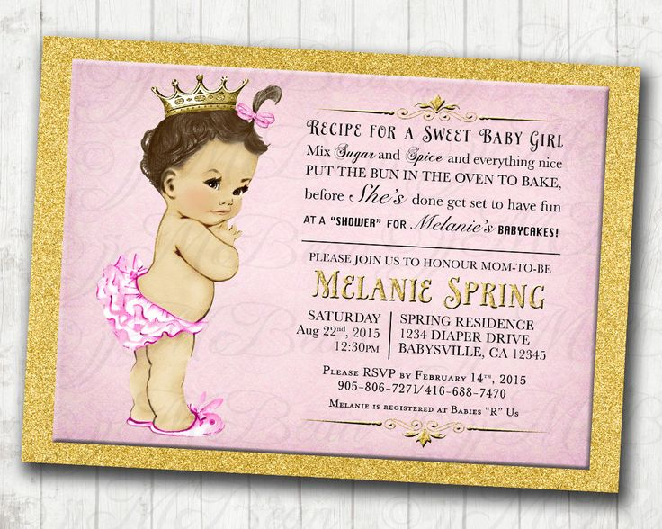 Superior Pink And Gold Vintage Baby Shower Invitation For Girl   DIY Printable