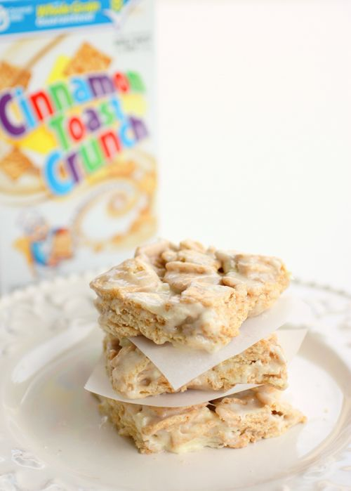 Easy Recipe for Cinnamon Toast Crunch Bars.