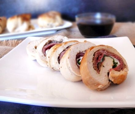 Italian-Stuffed Chicken Breast with Balsamic Vinegar Sauce @ Cooking and Beer