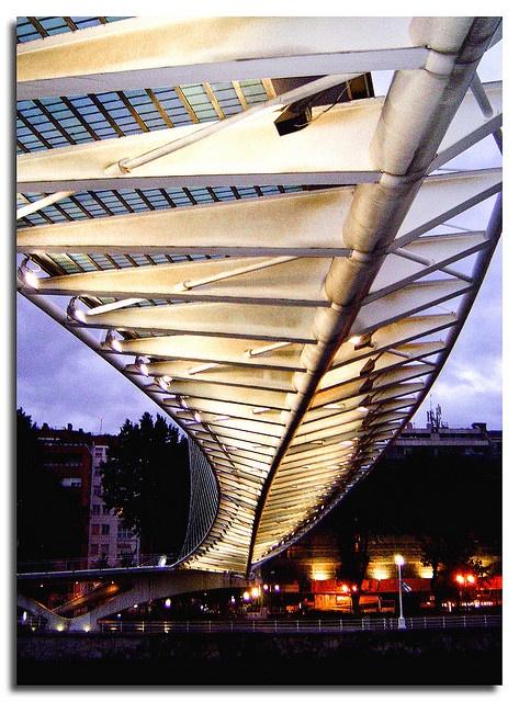 Campo Volantín footbridge, Bilbao, Spain, by jmhdezhdez by jmhdezhdez, via Flickr