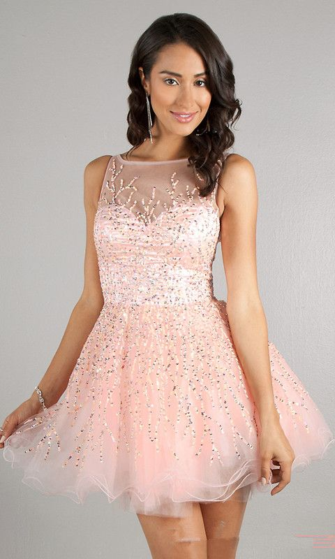 pretty short prom dress