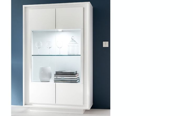 Vaisselier blanc laqué mat design ELURA