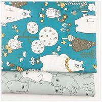 Печатных саржа хлопковая ткань для украшения дома diy швейные лоскутное подушки, постельные принадлежности, текстиль и квилтинга ремесла ткани