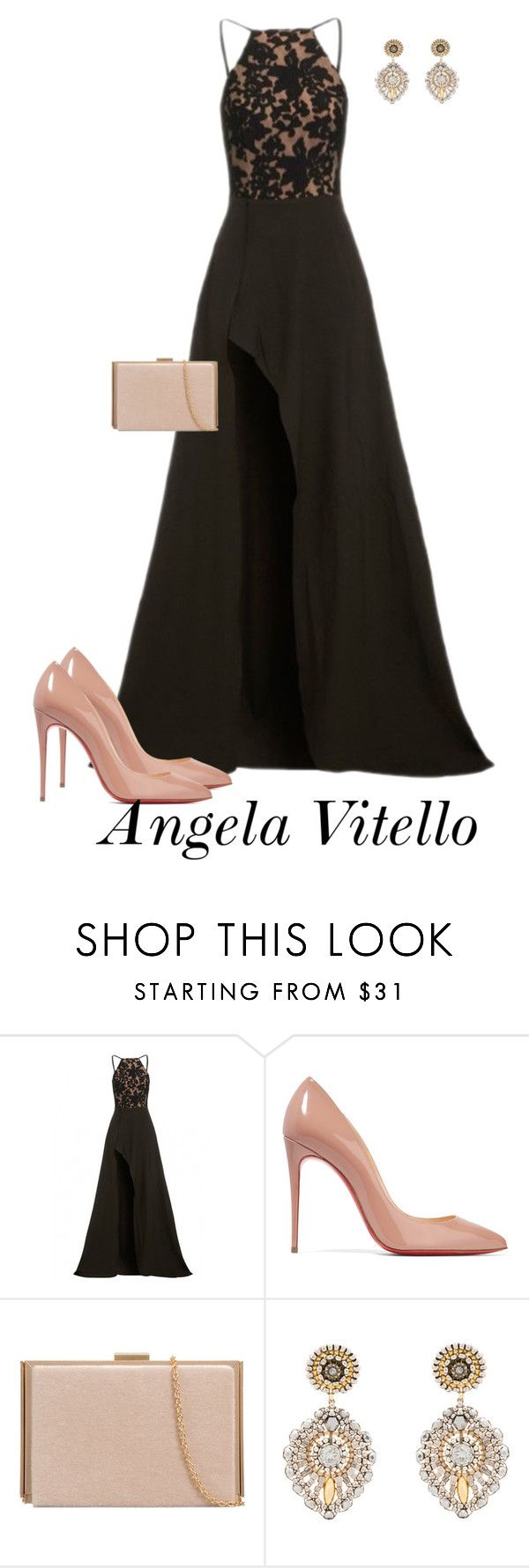 """""""Untitled #847"""" by angela-vitello on Polyvore featuring Elle Zeitoune, Christian Louboutin and Miguel Ases"""