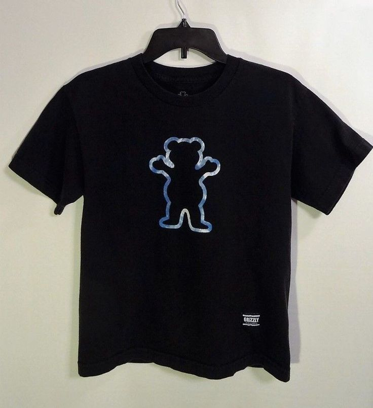 GRIZZLY Short Sleeve T-shirt Boys Youth Large Skateboarding Grip Tape #Grizzly #TShirt #Everyday