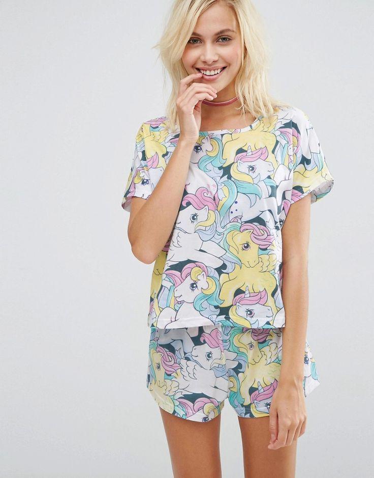 Image 1 ofASOS My Little Pony Print Short & Tee Pyjama Set