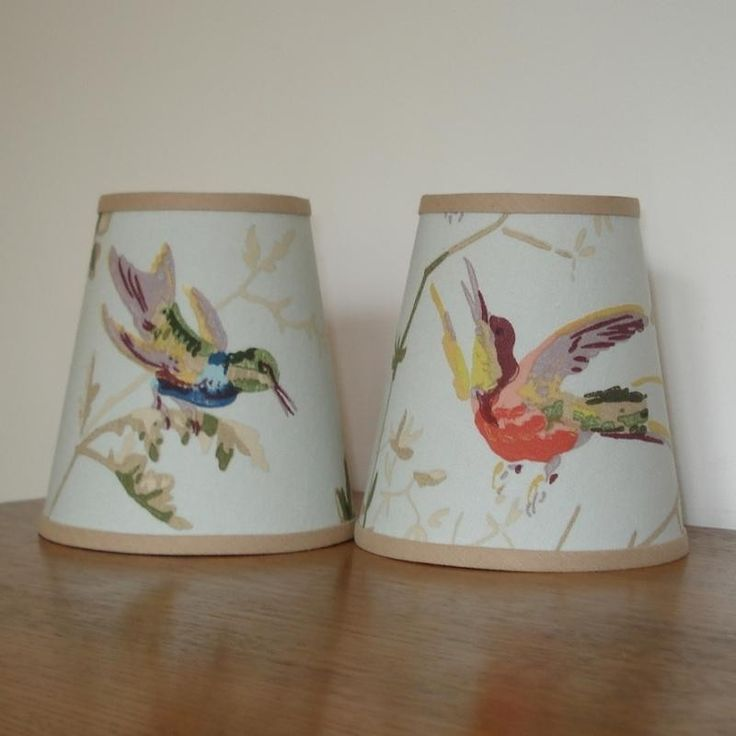 Candle Lamp Shades Shop: Humming Birds - 4.5inch Handmade Candle Clip Lampshade For Wall Lights /Chandeliers,Lighting