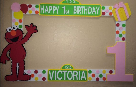 photo frame party prop Elmo to take by titaspartycreations