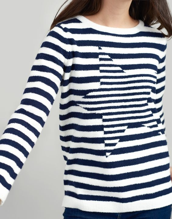 Seaham FRENCH NAVY Chenille Jumper | Joules UK | Jumpers for